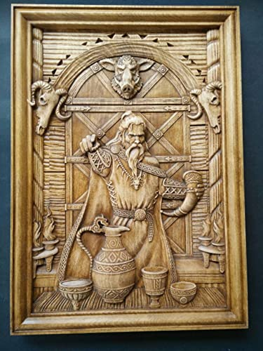 Amazon.com: Woodcarving of Loki - Deceiver of the Gods | Wotan ...