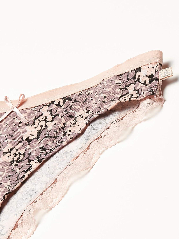 Jessica Simpson Womens Cotton Bikini Panties Underwear Multi-Pack Bikini Style Underwear
