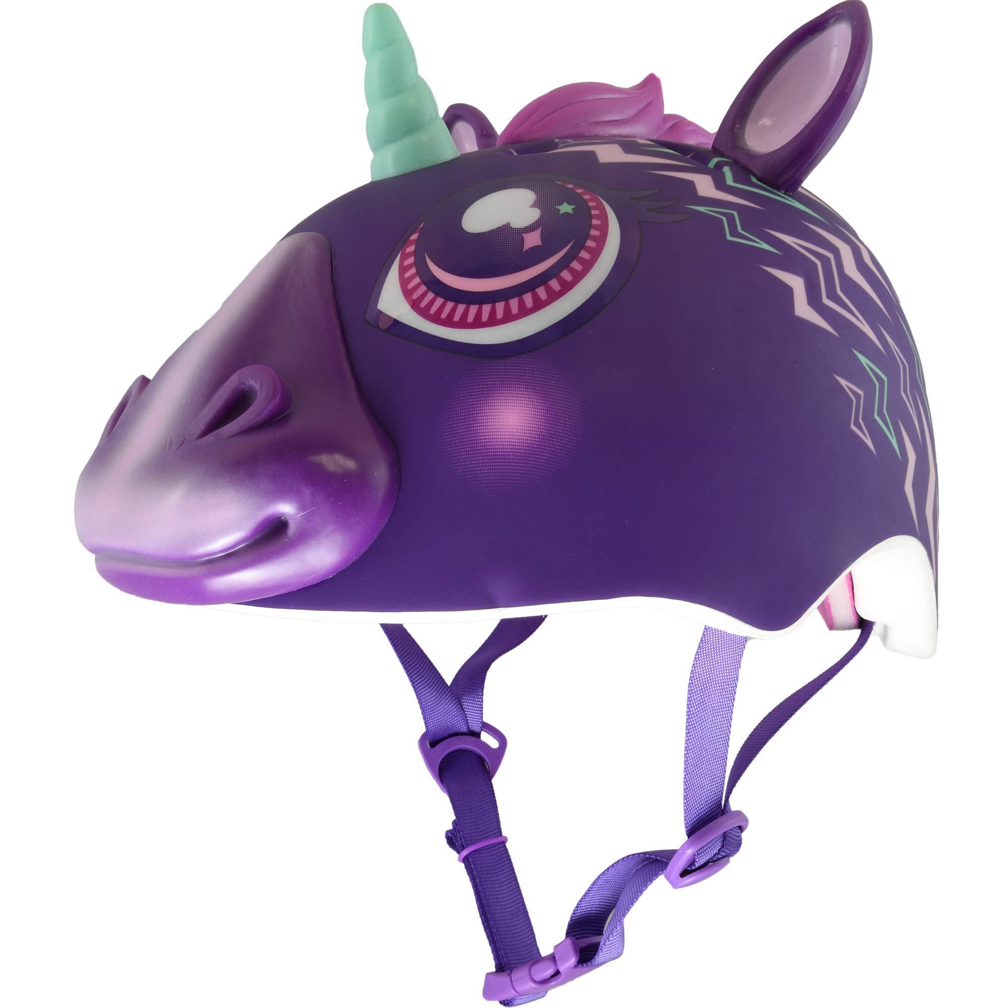 Raskullz Electric Unicorn TPR Child 5+ Helmet, Electric Purple