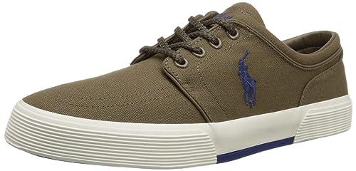 Ralph Lauren Mens Faxon Low SK VLC Textile Trainers: Polo Ralph Lauren: Amazon.es: Zapatos y complementos
