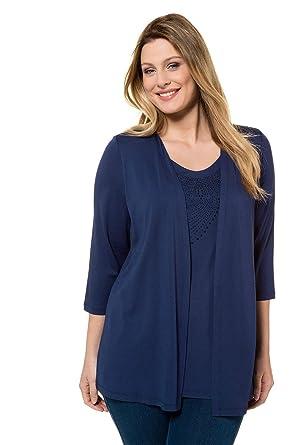 Ulla Femme Tailles 6466 Shirt En Grandes 2 Foncé T Bleu 1 Popken wiluTOXPkZ
