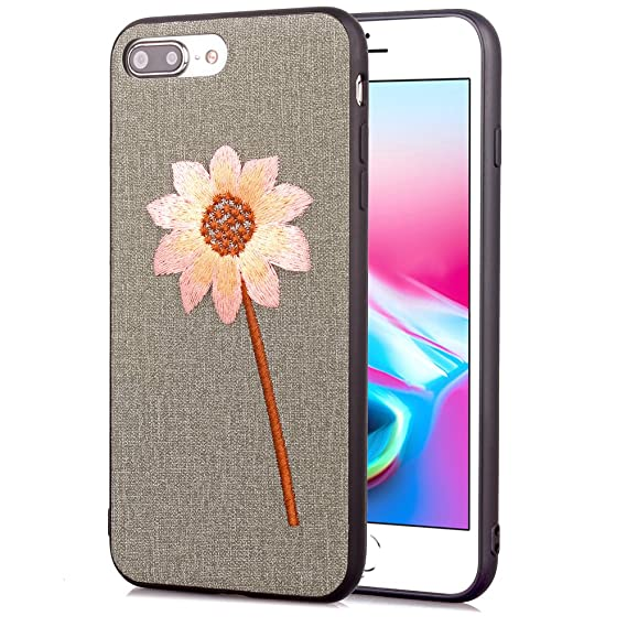 outlet store 25549 4b5e9 Amazon.com: iPhone 8 Plus Case , iPhone 7 Plus Case ,Embroidered ...
