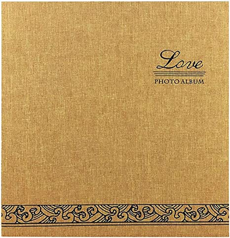 Amazon Com Yshca Professional Photo Album Book Linen Cover 12 Inch Magnetic Scrapbook Album Retro Film Diy Creative Year S Gift Album Wedding Bookshelf Albums Yellow Home Kitchen