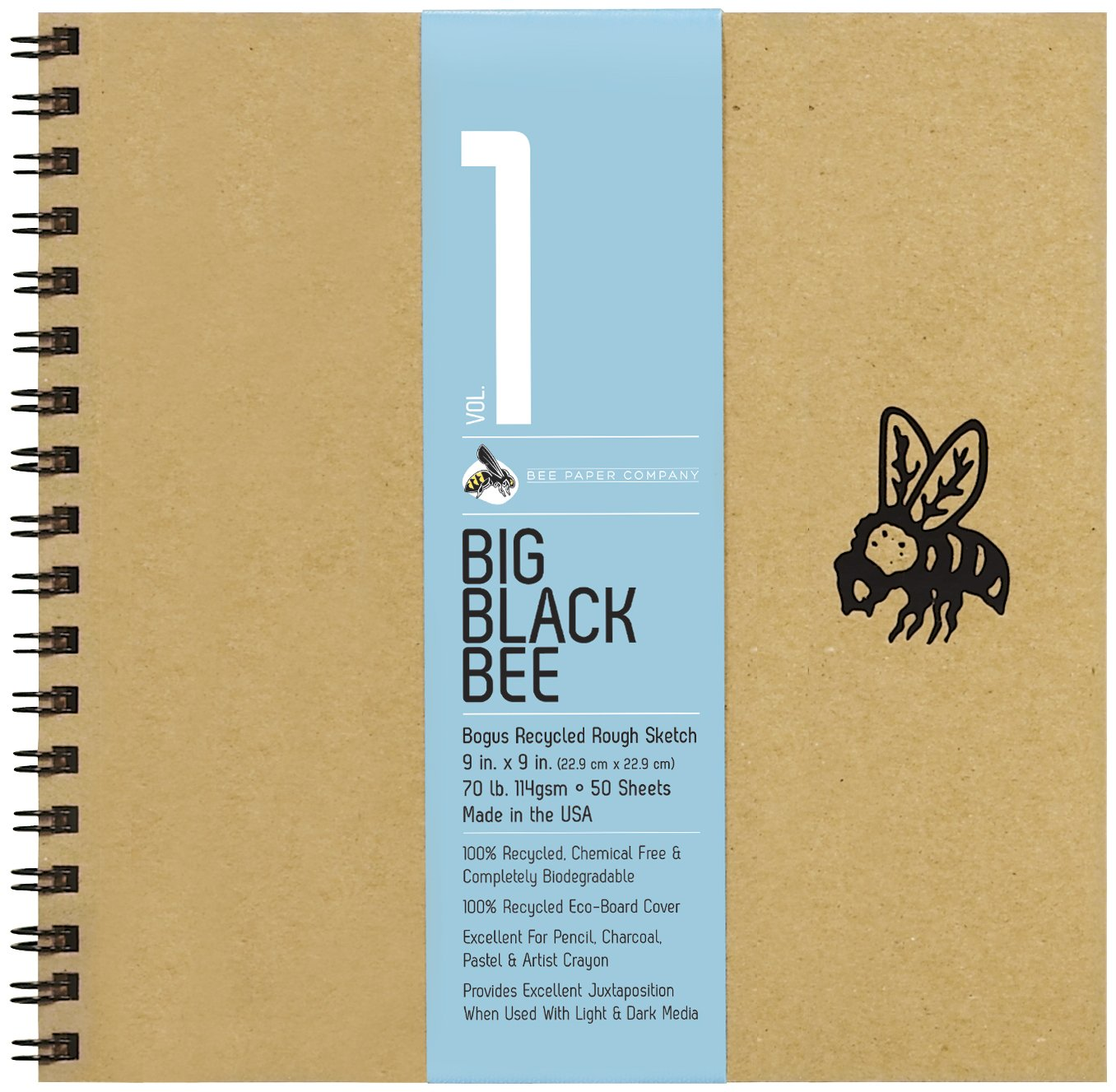 Bee Paper Company BEE-202CB50-909 Big Black Bee Bogus Pad, 9 by 9-Inch by Bee Paper Company