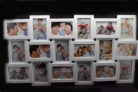 MARCO DE FOTOS, PORTARETRATOS PARA 18 FOTOS BLANCO GALERÍA DE FOTOS COLLAGE MARCO FAMILIA