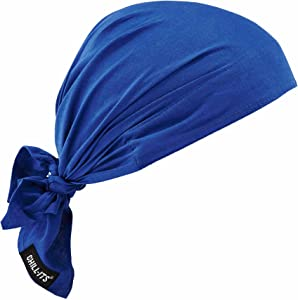 Ergodyne Chill-Its 6710CT Evaporative Cooling Dew Rag, Blue