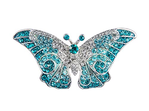 305ed38ed05f9 Alilang Empress Monarch Winged Butterfly Swarovski Crystal Rhinestone  Brooch Pin