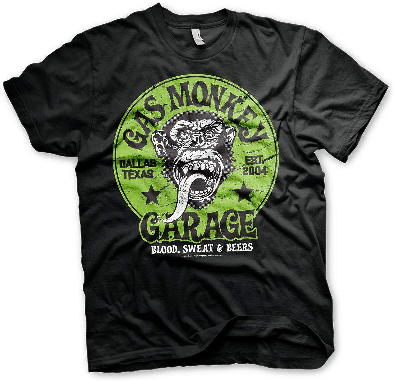 Logo Verde T-Shirt Maglia Maglietta GMG Gas Monkey Garage Officially Licensed