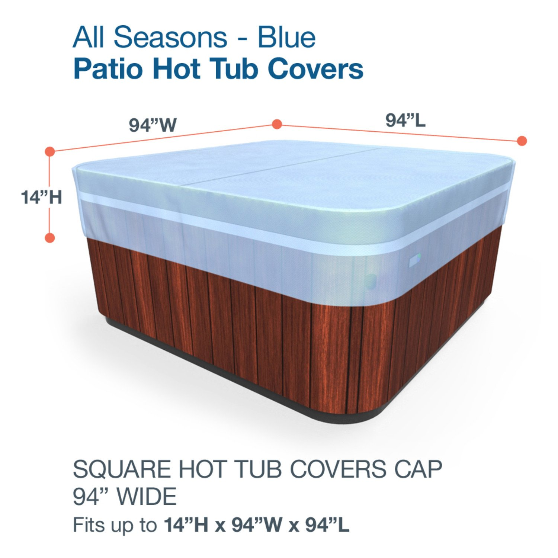 Amazon.com : Budge All-Seasons Square Hot Tub Cover, Large (Blue ...