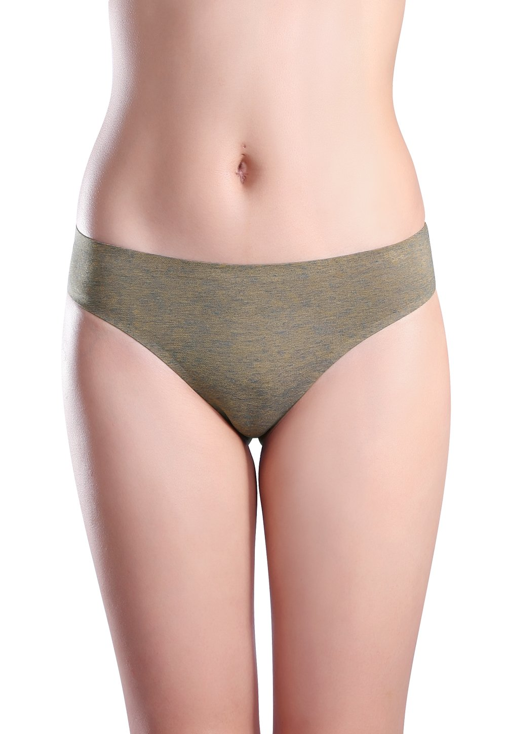Wealurre Women's Cotton Thong Breathable Panties Low Rise Underwear (Medium, Blue Gold) by Wealurre (Image #4)