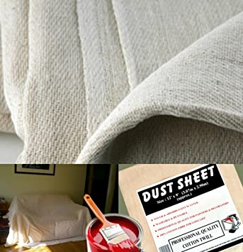 5 x quality 100 cotton twill heavy duty dust sheets for decorating each