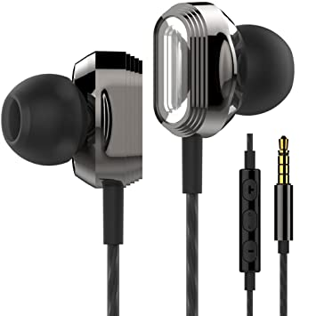 088df544060 Betron ProX7 Noise Isolating Earphones Headphones with Dual Driver,  Microphone and Volume Control - Black