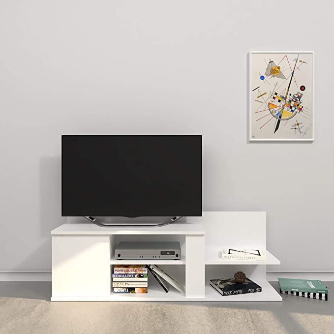 THETA DESIGN by Homemania - Mueble Marshall para TV, Color Blanco: Amazon.es: Hogar