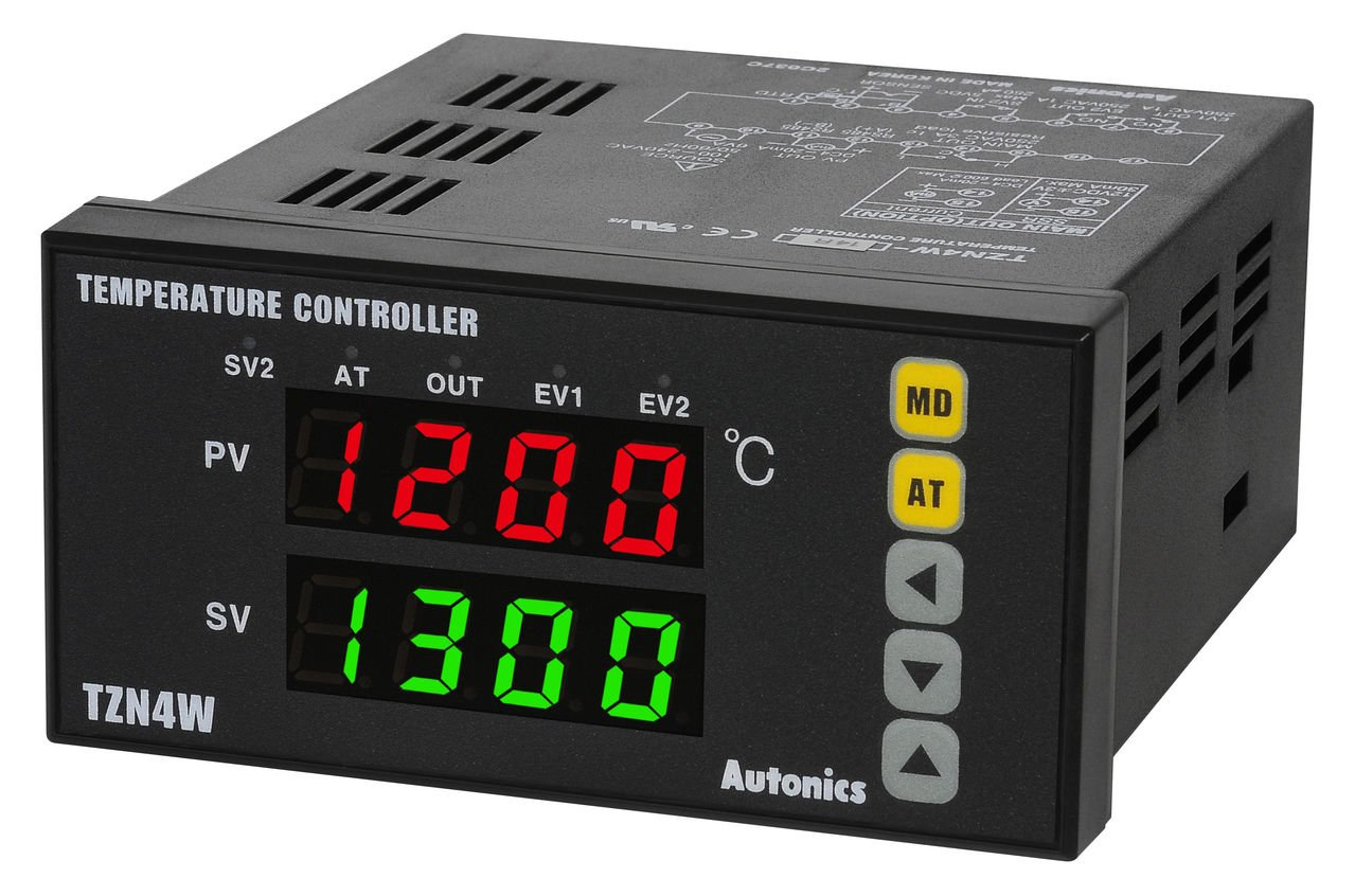 Autonics TZN4W-24S PID Temp Control, W96xH48mm, Digital, SSR Output, 2 Alarm Outputs, 100-240 VAC