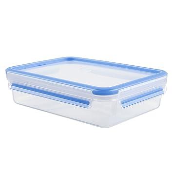 tout neuf 778b4 1ac6a Tefal K3021412 - Masterseal Fresh - Boîte plastique de conservation  alimentaire rectangulaire - 1.2 L - Bleu
