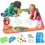 KOLAMOM おえかき 水 塗り絵 お絵描きシート 水 おえかき ペン おもちゃ 水で絵描き 子供プレゼント サイズ87x 57cm