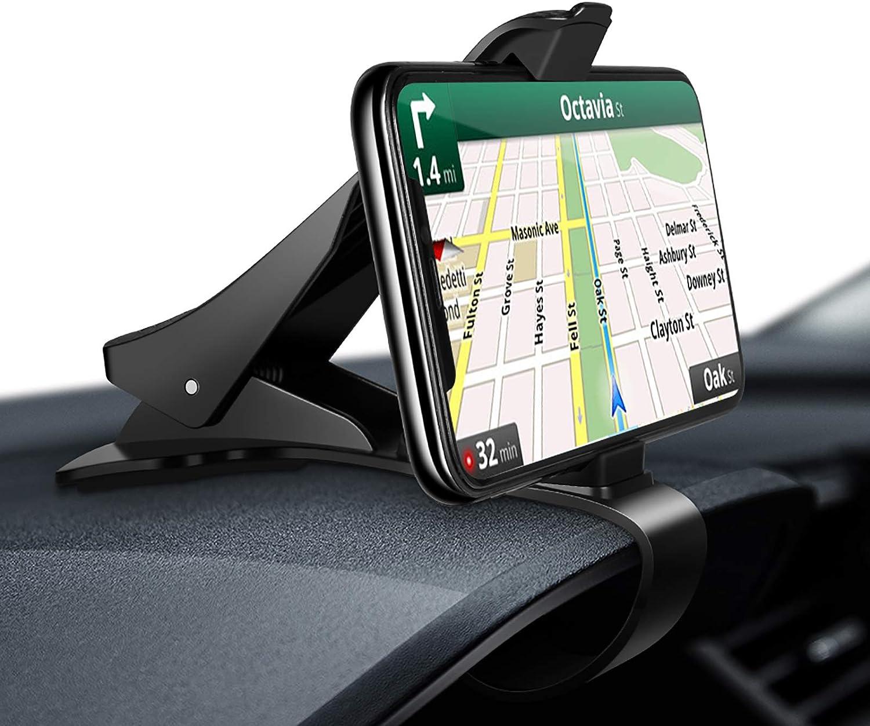 Modohe Soporte para Teléfono de Coche Montaje Móvil Universal Sujeta de Pinza Fuerte al Salpicadero para GPS Xiaomi Redmi Note 7 iPhone 12 11 Pro XR ...