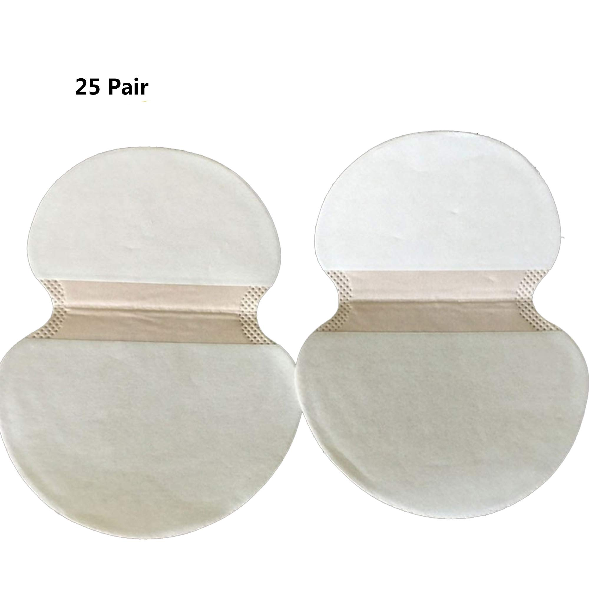 Underarm Sweat Pad, Disposable Absorbent Underarm Shields Antiperspirant Adhesive Underarm Pad Armpit pad Comfortable Discreet Sweat Free Odor Free (25 Pair)