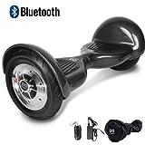 """Cool&Fun 10"""" Smart Hoverboard Monopattino Elettrico Scooter con Due Ruote 10"""", con Bluetooth"""