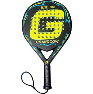 GRANDCOW Beach Tennis Padel/Paddle Racket Elite 500 Carbon Fiber POP Tennis Rackets New 3D