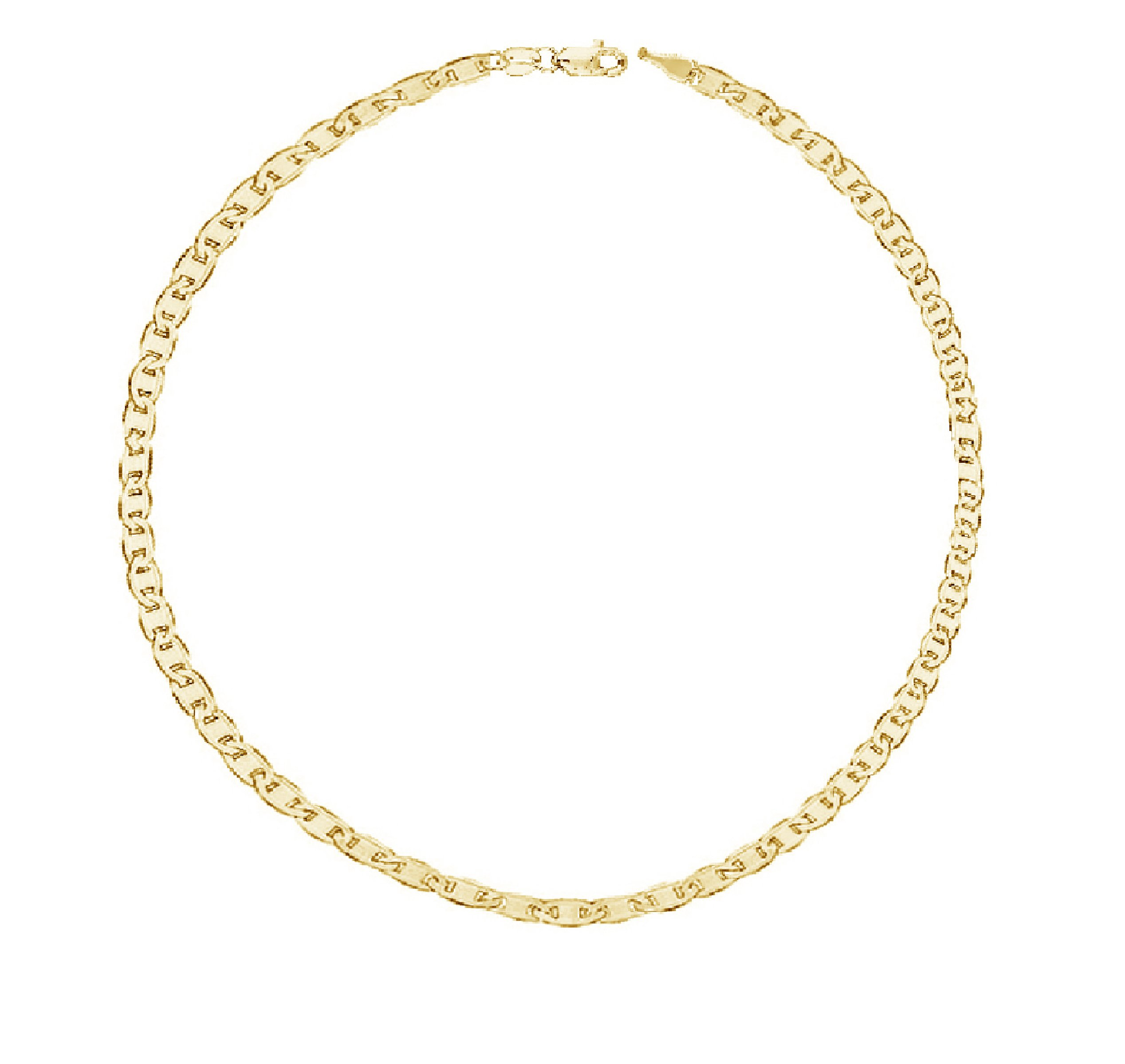 14K Yellow Gold Mariner Link Anklet or Chain Necklace 1.7mm