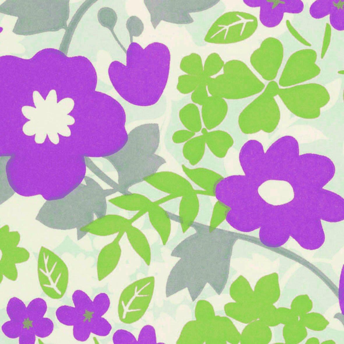 リリカラ 壁紙35m キッズ 花柄 パープル LL-8062 B01N0A9C3Y 35m|パープル