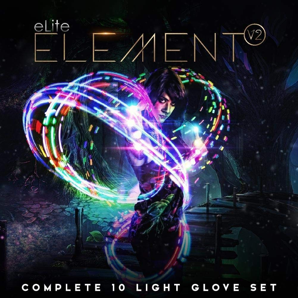 EmazingLights Elite Element Light Up Glove Set - Flashing Finger Light LED Gloves for Raves & Light Shows Featured on Shark Tank by EmazingLights (Image #2)