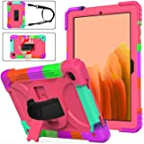 Samsung Tab A7 Case SM-T500/T505/T507 for Kids | AVAKOT Full Body High Impact Resistant Kidsproof Drop Protection Silicone Ca