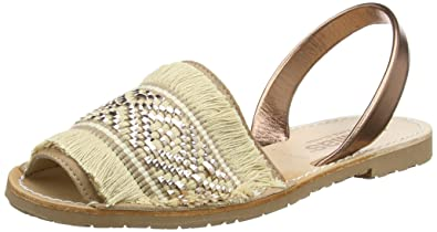 Womens Noche Franja Sling Back Sandals Solillas