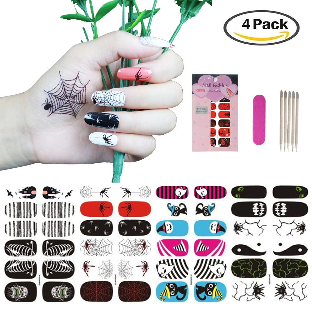 Amazon.com: Nail Art Stickers, Nail Decals and Stickers for Party ...