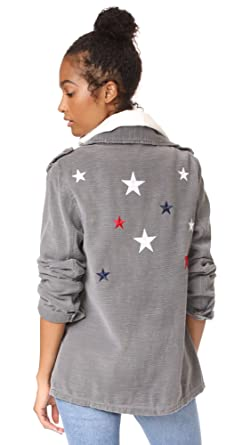 95aa9866b26 Amazon.com  SUNDRY Women s Star Army Jacket