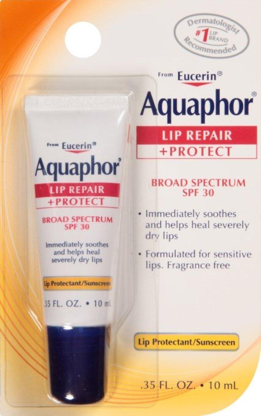 Aquaphor Lip Repair + Protect, Broad Spectrum SPF 30 0.35 oz (Pack of 5)