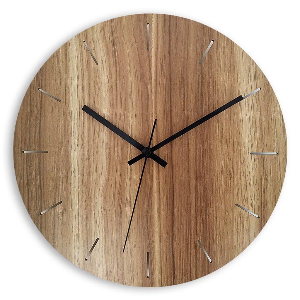 掛け時計 ウォールクロックモダンファッションミニマリストリビングルームガーデンウッドミュートクォーツ時計時計の壁時計 Rollsnownow (色 : C, サイズ さいず : 15 inches) B07BMY7PB1 15 inches|C C 15 inches