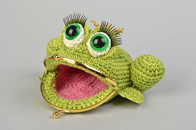 Amazon.com: Handmade Crocheted Purse In The Form Of Princess ...