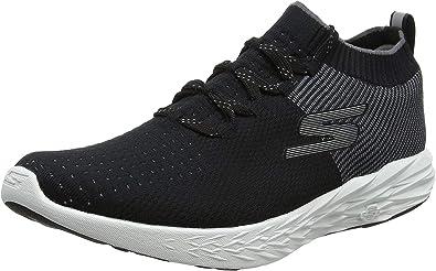 Skechers Performance Go Run 6, Zapatillas Deportivas para Interior para Hombre, Negro (Black/White), 45 EU: Amazon.es: Zapatos y complementos