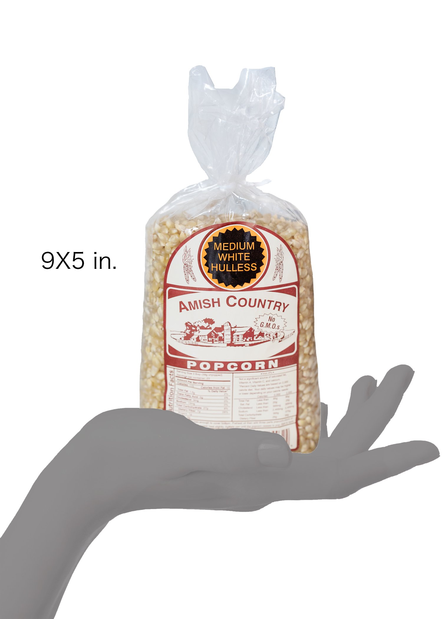 Amish Country Popcorn - Medium White Popcorn (2 Pound Bag) Old Fashioned, Non GMO, and Gluten Free - with Recipe Guide by Amish Country Popcorn (Image #9)