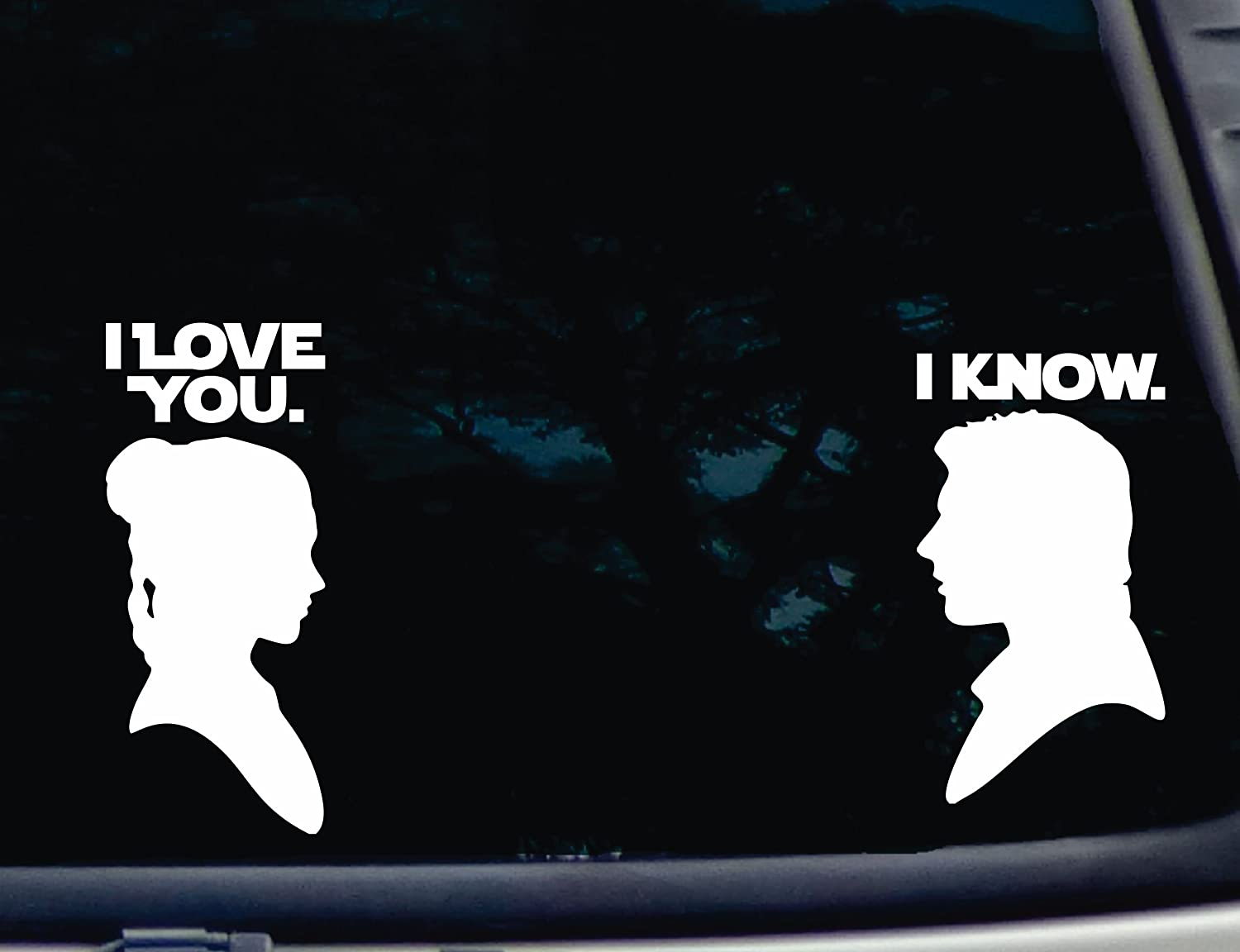 I Love You - I Know - Various Sized die Cut Vinyl Decals for Windows, Cars, Trucks, Tool Boxes, laptops, MacBook - virtually Any Hard, Smooth Surface. NOT Printed!