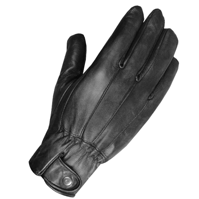 Men's Winter Premium Lambskin Thinsulate Lined Black Driving Dress Gloves XL