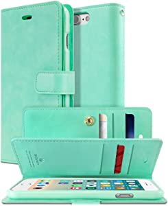 Goospery Mansoor Wallet for Apple iPhone 8 Plus Case (2017) iPhone 7 Plus Case (2016) Double Sided Card Holder Flip Cover (Mint) IP7P-MAN-MNT