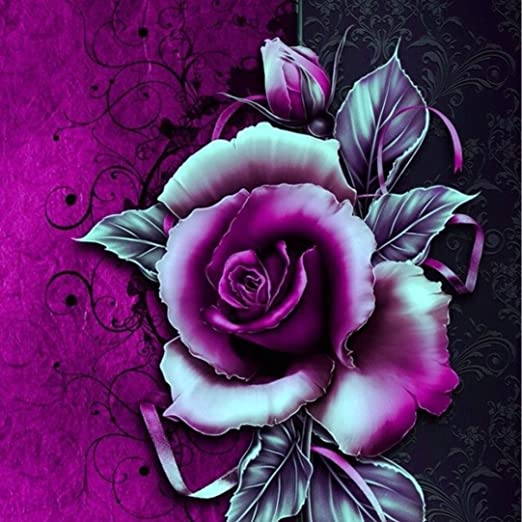 5D DIY Full Drill Square Diamond Painting Warm Flowers Cross Stitch House Decor