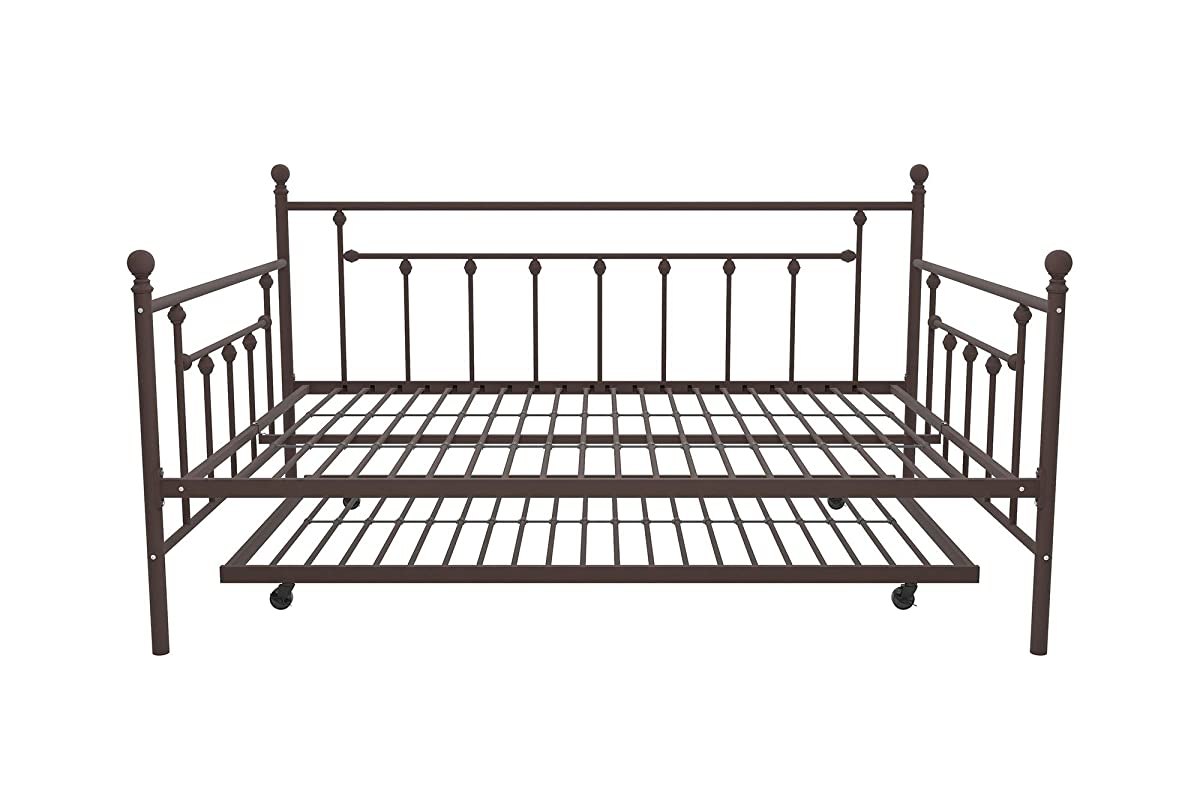 DHP Manila Metal Full Size Daybed and Twin Size Trundle, Bronze