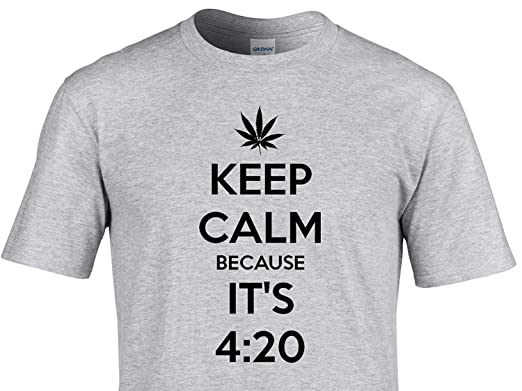 Keep calm because its 4 20 weed leaf t shirt unique quality vinyl designs from numbts t shirts stickers personalised mens tshirts amazon co uk