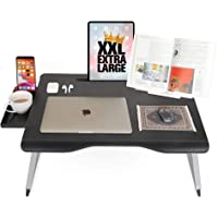 Cooper Mega Table [XXL Folding Laptop Desk] for Bed & Sofa | Couch Table, Bed Desk, Laptop, Writing, Study, Eating…