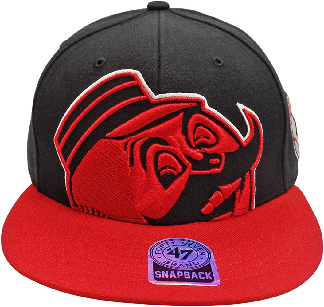 Cincinnati Reds MLB 47 Brand Black Blue Red Snapback 9Fifty Authentic Hat