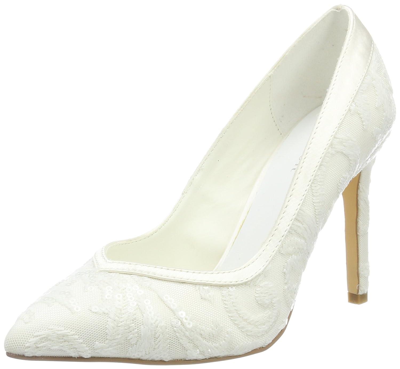 TALLA 37 EU. Menbur Wedding Giovanna, Zapatos de tacón con Punta Cerrada para Mujer