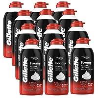 12-Pack Gillette Foamy Regular Shaving Foam, 11 oz