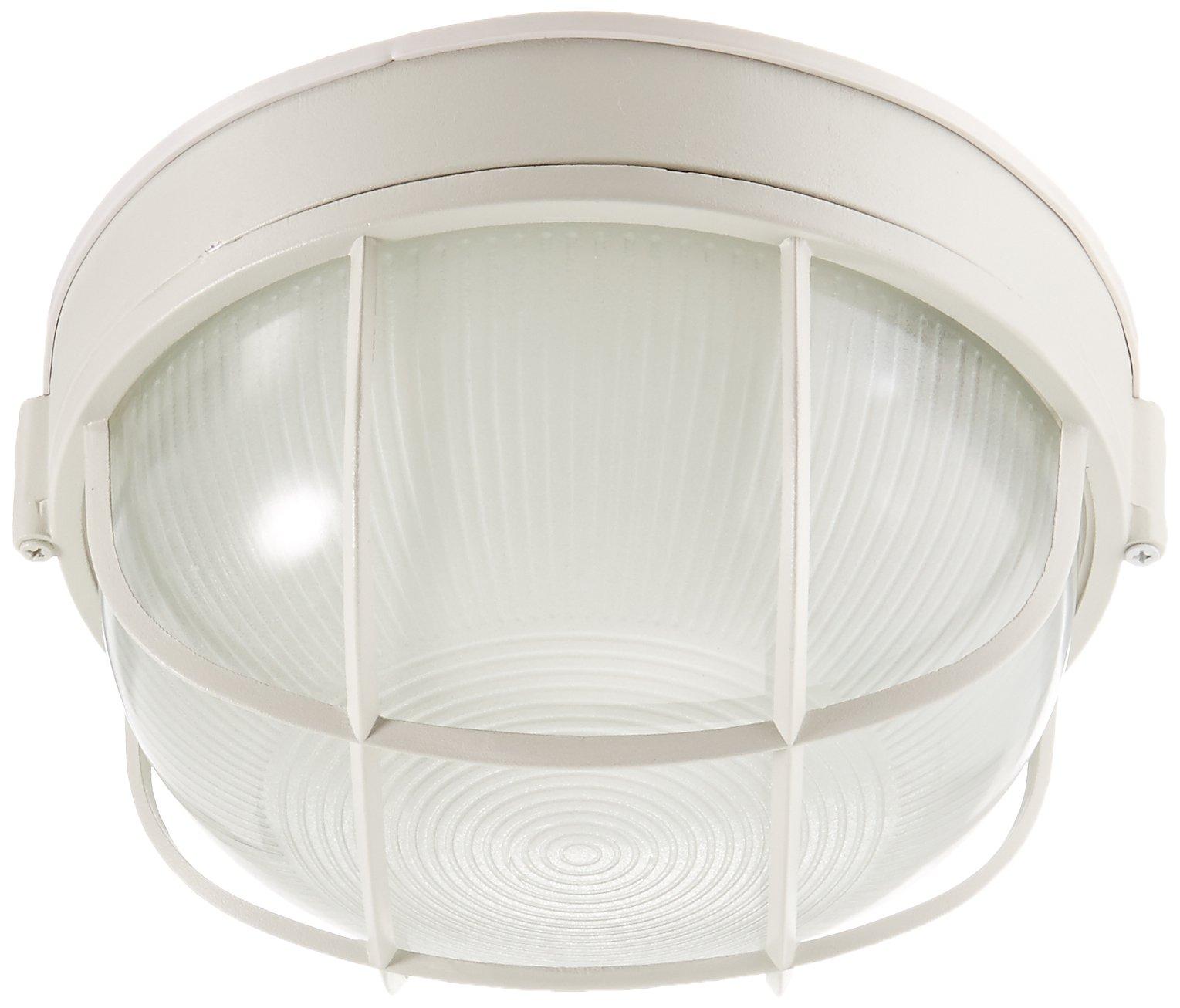 Trans Globe Lighting 41515 WH Outdoor Aria 10'' Bulkhead, White