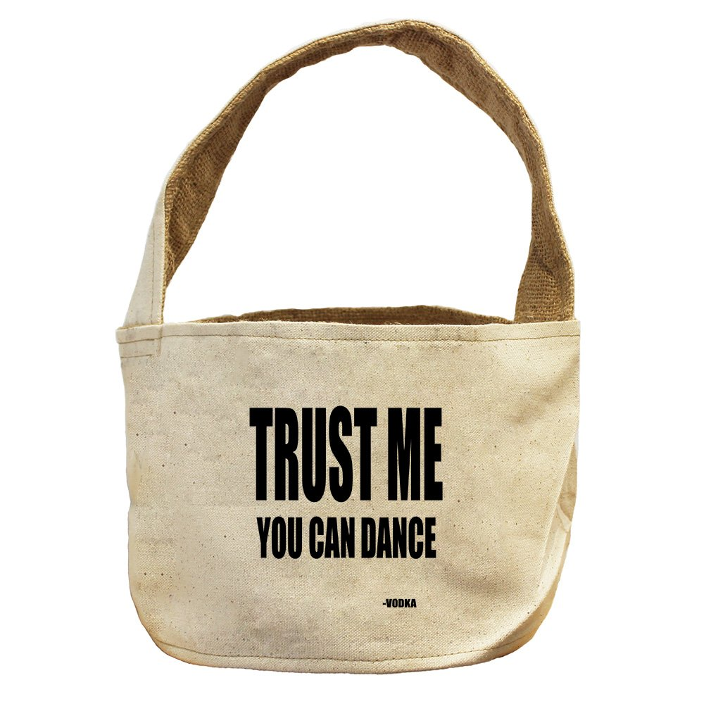 Style in Print You Can Dance Vodka Canvas and Burlap Storage Basket Basket