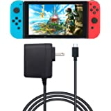 AC Adapter Nintendo Switch - FYOUNG Power Supply Charger Nintendo Switch 5FT Power Cord 15V 2.6A (Support TV Mode Switch Pro Controller)