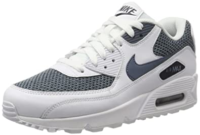 reputable site 552cc 3ec00 Nike Men s Air Max 90 Essential Low-Top Sneakers, (White Armor Blue-